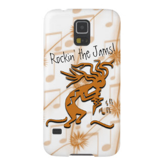 Kokopelli With Musical Notes Artwork Galaxy S5 Case