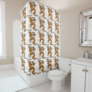 Marvelous Kokopelli With Musical Notes Facing Left Shower Curtain