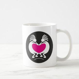 Kokopelli with pink heart mug