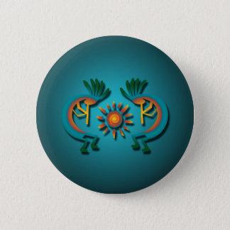 Kokopelli with Sun Button