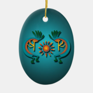 Kokopelli with Sun Custom Christmas Ornament