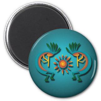 Kokopelli with Sun Magnet Fridge Magnets
