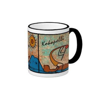 Kokopelli x 3 taza a dos colores
