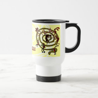 Kokopelli y espiral - taza #3