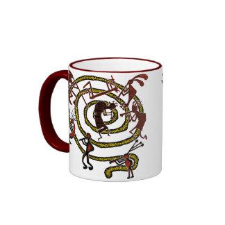 Kokopelli y espiral - taza #7