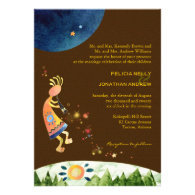 Kokopelli's Colorful Music Brown Wedding Invites