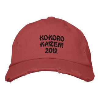 ¡Kokoro Kaizen! Casquillo bordado tela cruzada ape Gorra Bordada