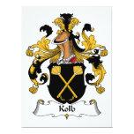 Kolb Family Crest 6.5x8.75 Paper Invitation Card