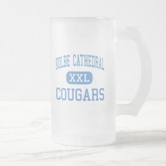 Kolbe Cathedral - Cougars - High - Bridgeport 16 Oz Frosted Glass Beer Mug