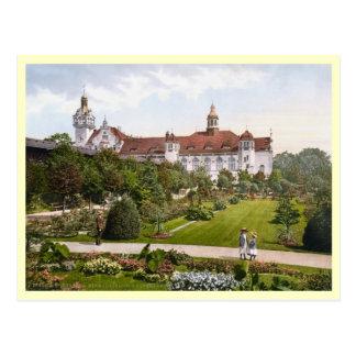 Kolberg Strandschloss Rosengarten Postcard