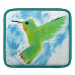 Kolibri schilderij sleeve iPad beschermhoezen
