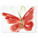 Kolleen's orange butterfly 3 4.25x5.5 paper invitation card