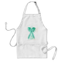 Kolleen's Teal Angel 2 Adult Apron