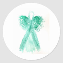 Kolleen's Teal Angel 2 Classic Round Sticker