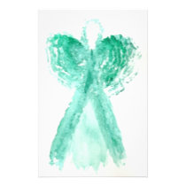 Kolleen's Teal Angel 2 Stationery