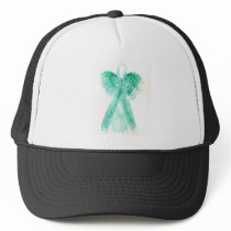 Kolleen's Teal Angel 2 Trucker Hat