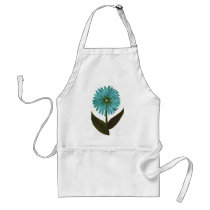 Kolleen's Teal Flower 2 Adult Apron