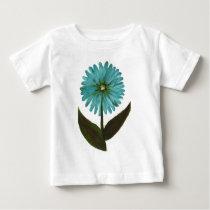Kolleen's Teal Flower 2 Baby T-Shirt