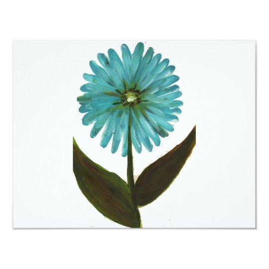 Kolleen's Teal Flower 2 Card