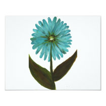 Kolleen's Teal Flower 2 Card