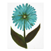 Kolleen's Teal Flower 2 Letterhead