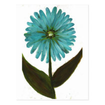 Kolleen's Teal Flower 2 Postcard