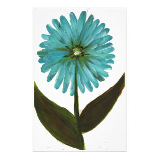 Kolleen's Teal Flower 2 Customized Stationery