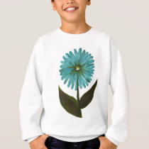 Kolleen's Teal Flower 2 Sweatshirt