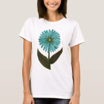 Kolleen's Teal Flower 2 T-Shirt