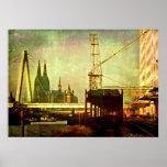 Köln Ansicht Leinwand Póster