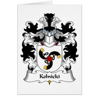 Kolnicki Family Crest Greeting Card