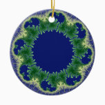 Kolo fractal art ceramic ornament