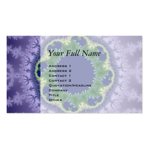 Kolo fractal art Double-Sided standard business cards (Pack of 100)
