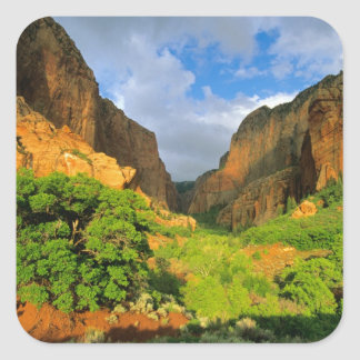 Kolob Canyon at Zion Canyon in Zion National Square Sticker