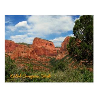 Kolob Canyon, Utah Postcard