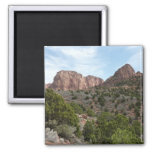 Kolob Canyons at Zion National Park 2 Inch Square Magnet