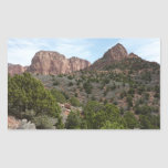 Kolob Canyons at Zion National Park Rectangular Sticker
