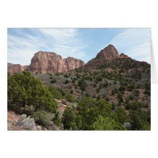 Kolob Canyons at Zion National Park Utah Greeting Card