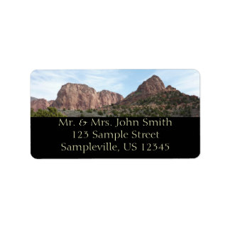 Kolob Canyons at Zion National Park Utah Address Label