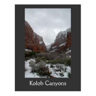 Kolob Canyons in Winter Postcard