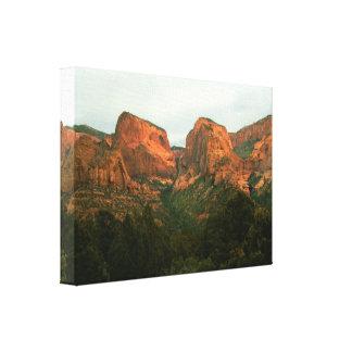 Kolob Canyons on Canvas Canvas Print