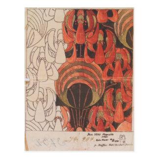 Koloman Moser- Backhausen Interior Texiles Postcard