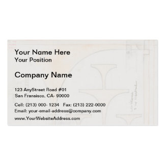 Koloman Moser- Draft drawings for breakfast room Double-Sided Standard Business Cards (Pack Of 100)