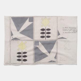 Koloman Moser- Draft of furniture decoration Kitchen Towel