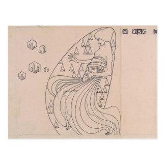 Koloman Moser- Drafts for metal relief Postcard
