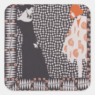 Koloman Moser- Early spring Square Sticker