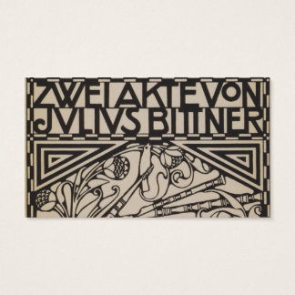 Koloman Moser- Envelope for the score to the opera Business Card