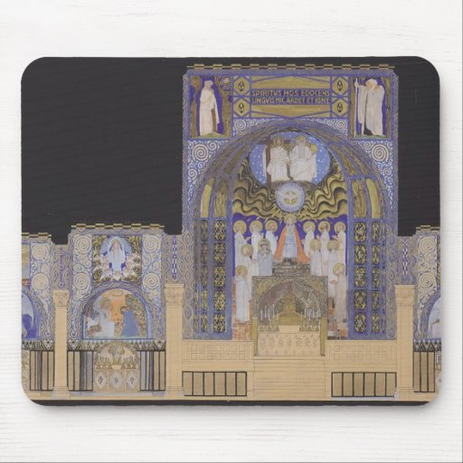 Koloman Moser- Holy Spirit Church in Düsseldorf Mouse Pad