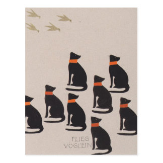 Koloman Moser-Picture book for the niece of Ditha Postcard