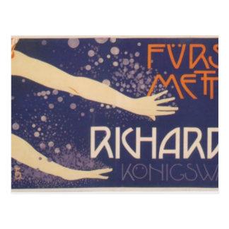Koloman Moser-Poster of Prince Richard Metternich Postcard